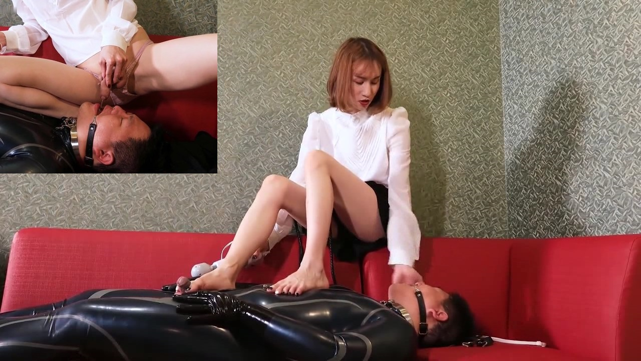 Asian Trans Domina and slave